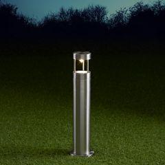 Biard Niort 450mm Pollerleuchte Edelstahl Chrom inklusive Leuchtmittel