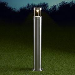 Biard Niort 600mm Pollerleuchte Edelstahl Chrom inklusive Leuchtmittel