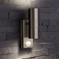 Biard Wandleuchte Zweiseitig Edelstahl IP44 Außenbeleuchtung mit Bewegungsmelder
