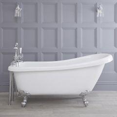 Freistehende Badewanne Roma mit auswählbaren Füßen 1710mm