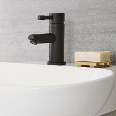 Nox - Schwarze Einhebel-Mischbatterie für Waschbecken