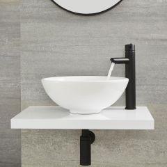 Nox - Schwarze hohe Einhebel-Mischbatterie für Waschbecken