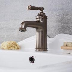 Einhebel Waschtischarmatur Traditionell in geölter Bronze - Colworth