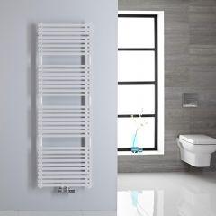 Handtuchheizkörper Mittelanschluss Vertikal Weiß 407 Watt 1500mm x 500mm - Magera