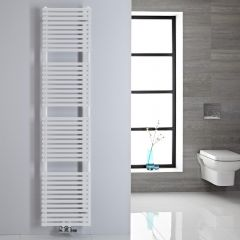Handtuchheizkörper Mittelanschluss Vertikal Weiß 454 Watt 1800mm x 400mm - Magera