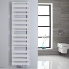 Handtuchheizkörper Mittelanschluss Vertikal Weiß 456 Watt 1800mm x 500mm - Magera