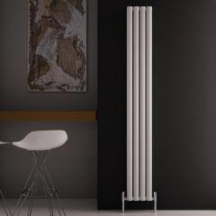 Design Heizkörper Aluminium Doppellagig Vertikal Weiß 1800mm x 230mm 1002W - Revive Air