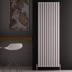 Design Heizkörper Aluminium Doppellagig Vertikal Weiß 1800mm x 590mm 2506W - Revive Air