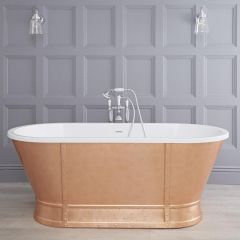 Hudson Reed Egermont doppelseitige abgerundete Badewanne 1676mm x 780mm - Bronze