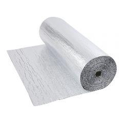 Gepolsterte Isolierfolie aus Aluminium Beidseitig Doppelllagig 10m x 1.2m Rolle 12m2