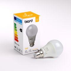 Biard 6x LED Birne 4,5W Milchglas mit B22 Fassung