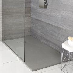 Hudson Reed Grau Stein Effekt rechteckige Duschwanne - verschiedene Größen verfügbar