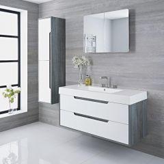 Waschtisch mit Unterschrank Grau 1200mm optional mit Füßen - Newport