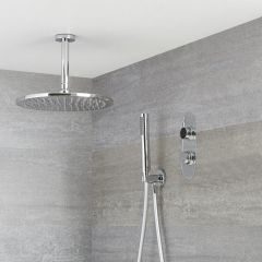 Digitale Dusche für zwei Funktionen, inkl. rundem Duschkopf zur Deckenmontage - Narus