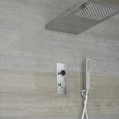 Digitale Dusche für zwei Funktionen, inkl. Handbrause und Duschkopf mit integrierter - Narus