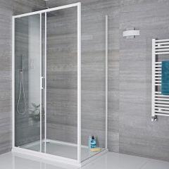 Duschabtrennung Seitenpaneel 800mm Weiß - Lux