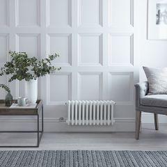 Gliederheizkörper Regent Elektrisch Nostalgie Weiß 3 Säulen 300mm x 608mm inkl. 400W Heizstab