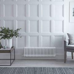 Gliederheizkörper Regent Elektrisch Nostalgie Weiß 3 Säulen 300mm x 1013mm inkl. 800W Heizstab