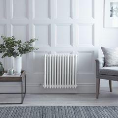 Gliederheizkörper Regent Elektrisch Nostalgie Weiß 3 Säulen 600mm x 608mm inkl. 800W Heizstab