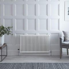 Gliederheizkörper Horizontal 2 Säulen Nostalgie Weiß 600mm x 1013mm 1249W - Regent