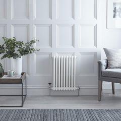Gliederheizkörper Horizontal 2 Säulen Nostalgie Weiß 600mm x 405mm 568W - Regent