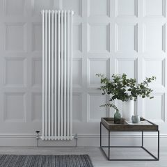 Gliederheizkörper Vertikal 2 Säulen Nostalgie Weiß 1800mm x 470mm 4173W - Regent