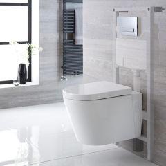 Hänge WC Oval inkl. Unterputzspülkasten 1150mm x 500mm und wählbarer Betätigungsplatte - Exton