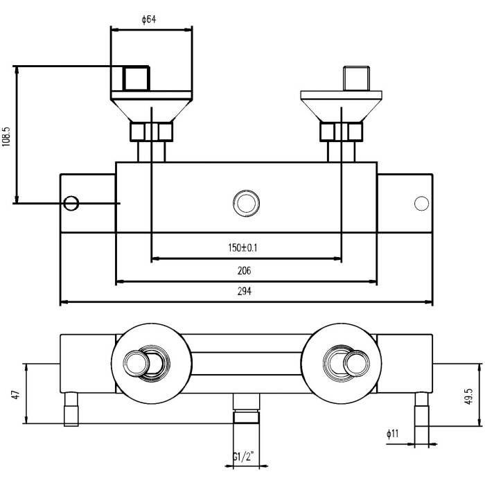 stab armatur 1 auslauf rund anschluss oben. Black Bedroom Furniture Sets. Home Design Ideas