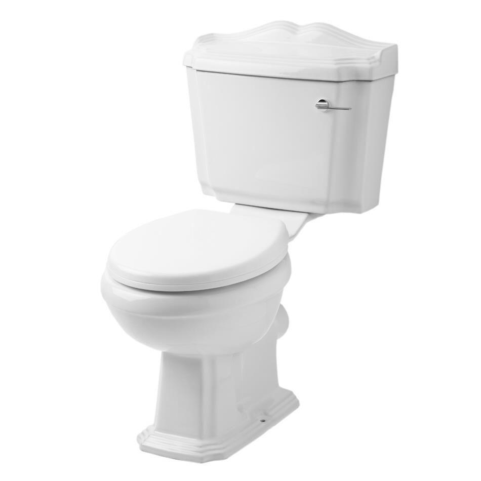 traditionelle toilette aus keramik belmont. Black Bedroom Furniture Sets. Home Design Ideas