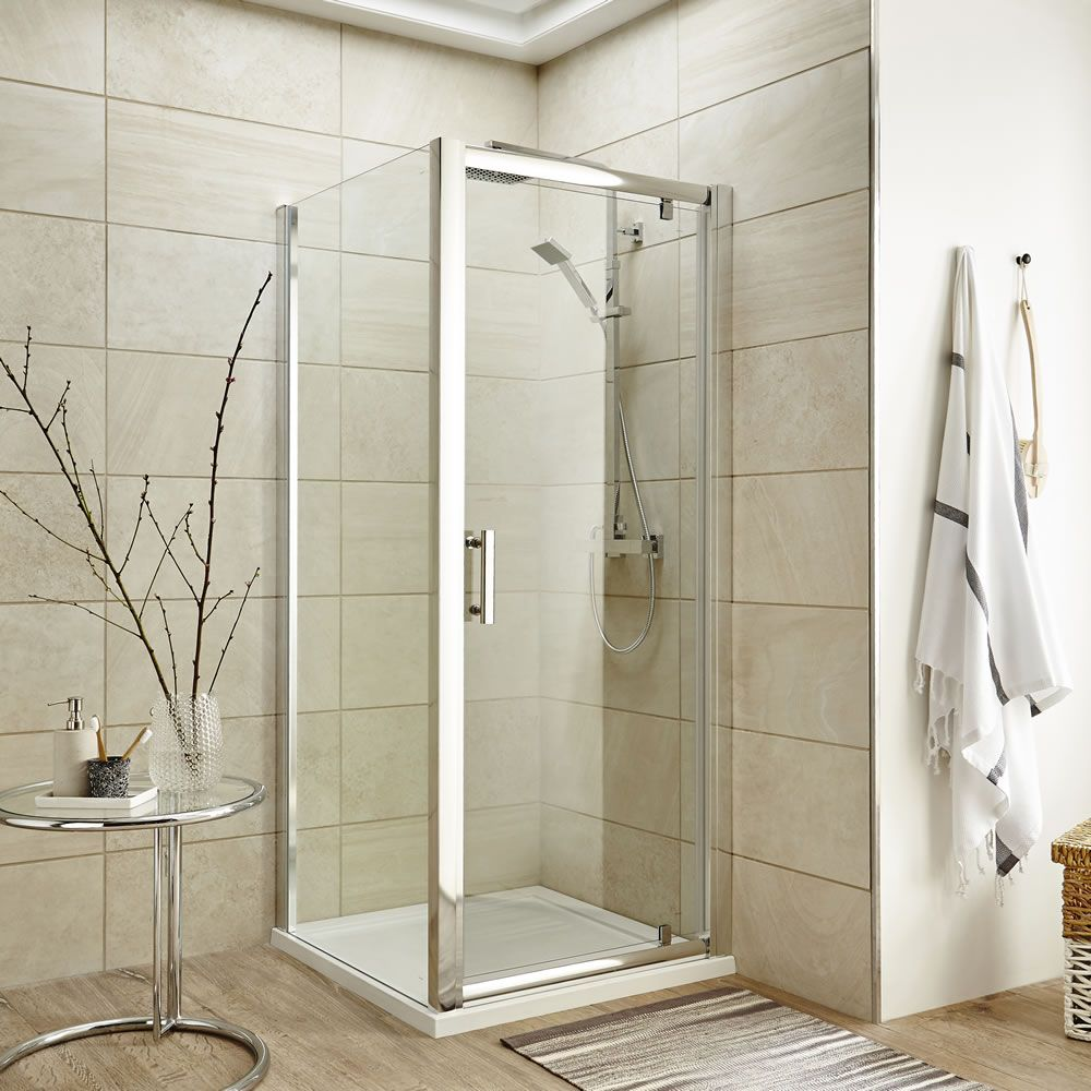duschabtrennung quadratisch 900mm inkl duschtasse und t r. Black Bedroom Furniture Sets. Home Design Ideas