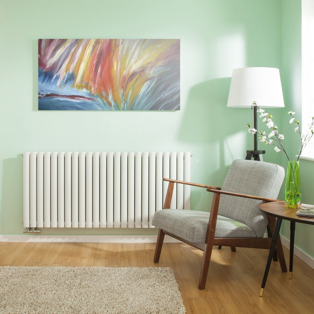 design heizk rper horizontal doppellagig mittelanschluss wei 635mm x 1411mm 2503w revive caldae. Black Bedroom Furniture Sets. Home Design Ideas