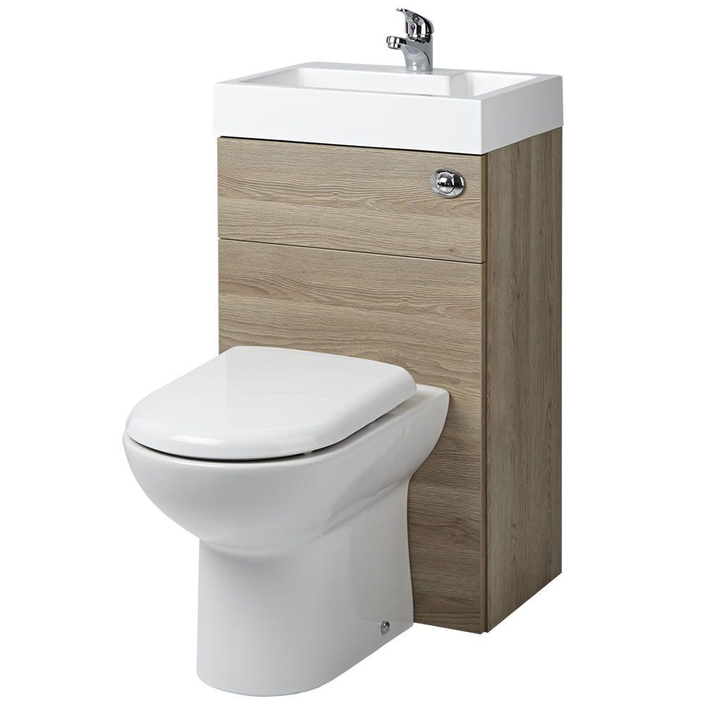 d f rmige toilette mit sp lkasten und integriertem waschbecken eiche. Black Bedroom Furniture Sets. Home Design Ideas