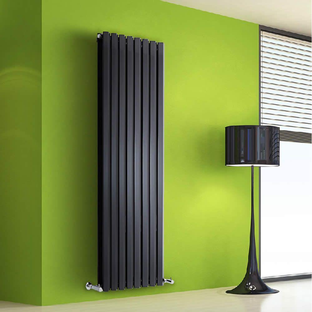 design heizk rper vertikal doppellagig schwarz 1600mm x. Black Bedroom Furniture Sets. Home Design Ideas