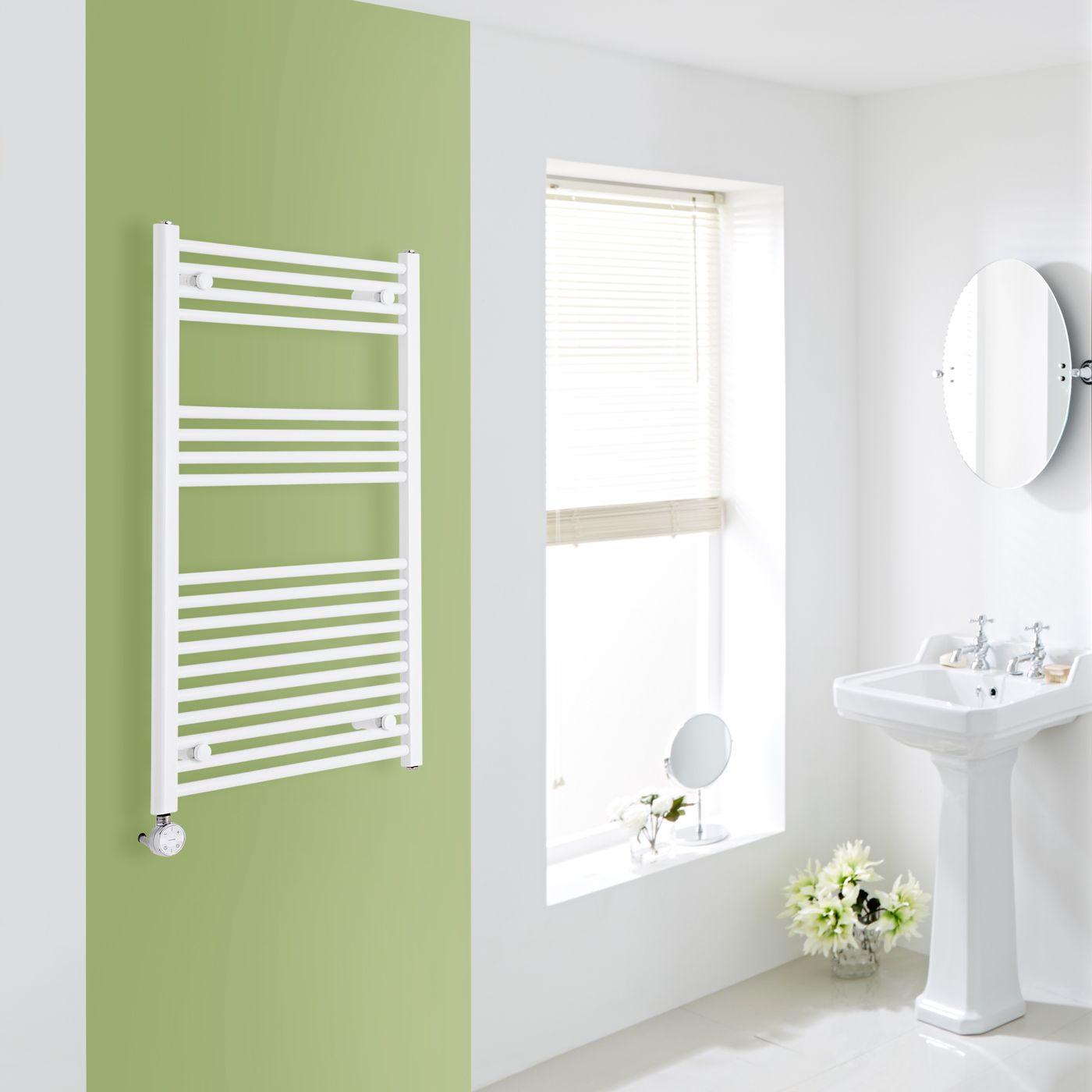 elektrischer handtuchheizk rper wei 1000mm x 600mm inkl ein 800w heizelement etna. Black Bedroom Furniture Sets. Home Design Ideas