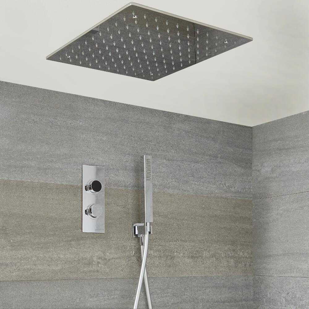digitale dusche f r zwei funktionen inkl quadratischem unterputzduschkopf narus. Black Bedroom Furniture Sets. Home Design Ideas
