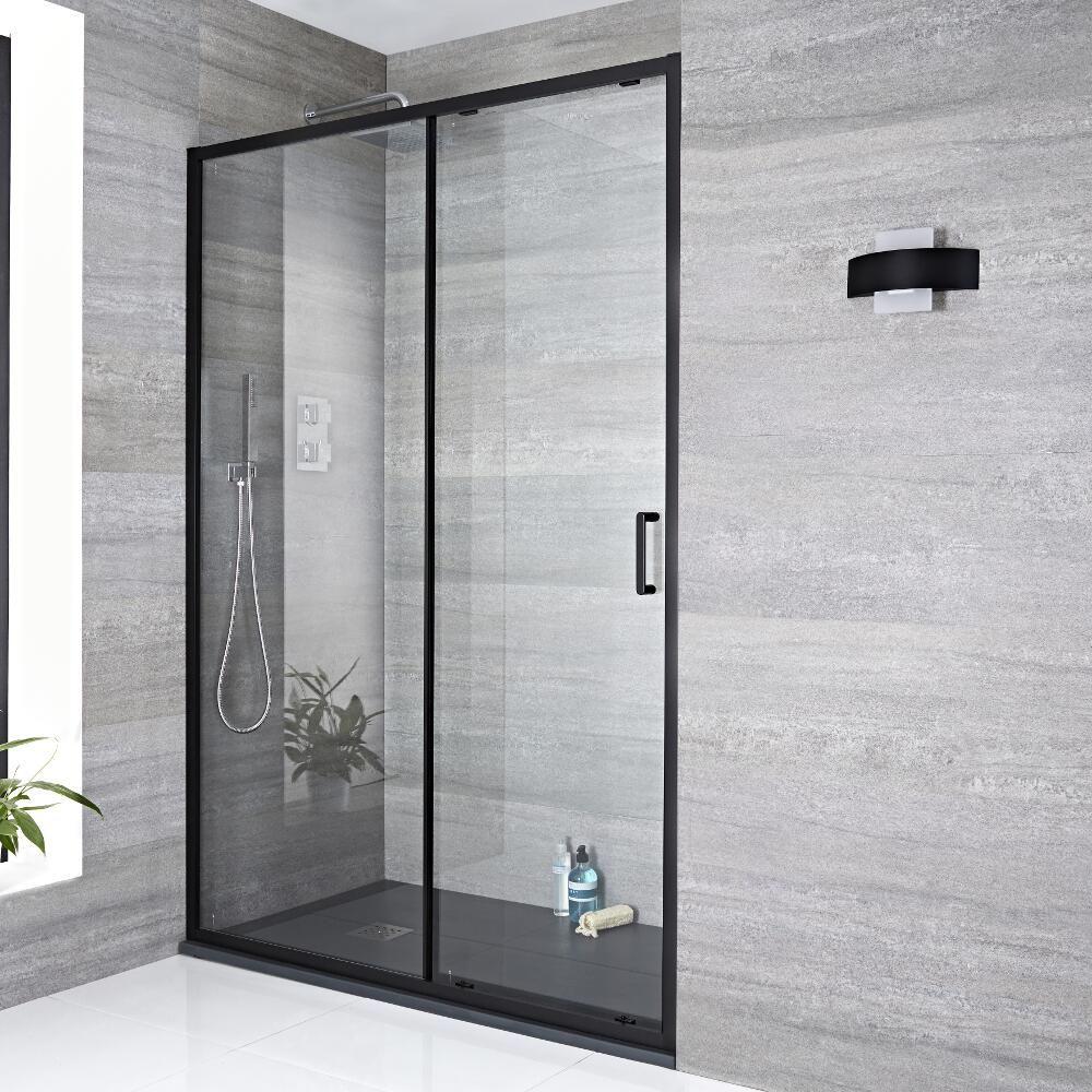 schiebet r dusche 1400mm schwarz nox. Black Bedroom Furniture Sets. Home Design Ideas