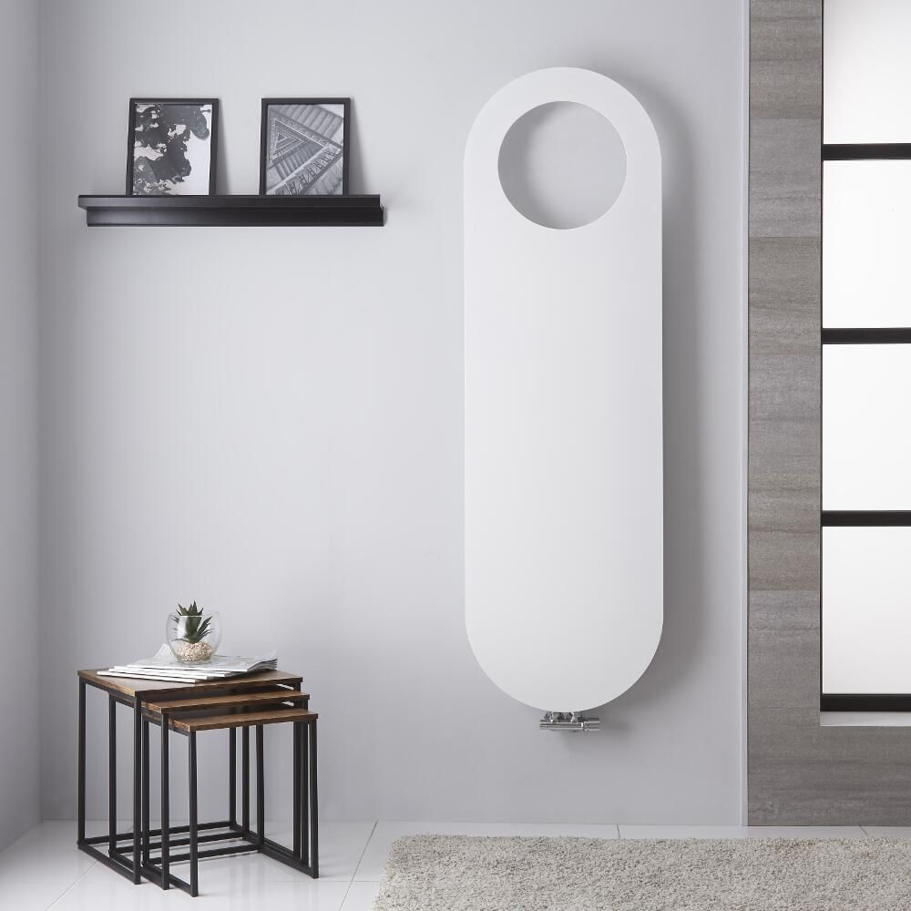 design heizk rper mittelanschluss mineral wei 1595mm x. Black Bedroom Furniture Sets. Home Design Ideas