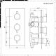 Nox - Schwarze Duscharmatur mit 300x300mm Duschkopf und Handbrause