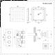 Triple Unterputzarmatur Eckig inkl. 400mm Unterputzduschkopf & 4 Seitenbrausen - Arvo