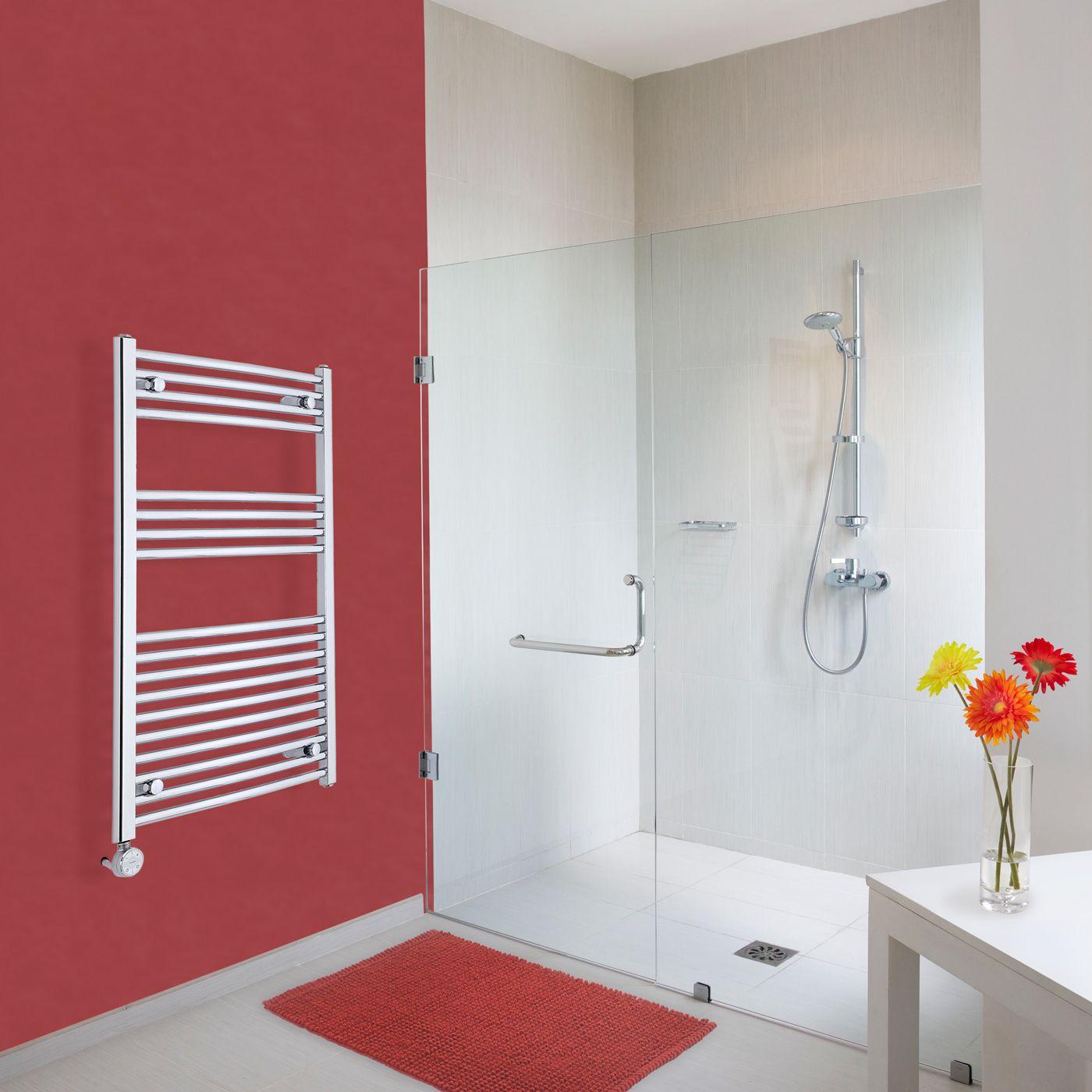 elektrischer handtuchheizk rper gebogen chrom 1000mm x. Black Bedroom Furniture Sets. Home Design Ideas