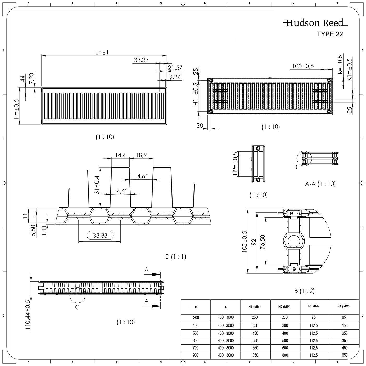 kompaktheizk rper horizontal typ 22 wei 400mm x 1200mm 1387w eco. Black Bedroom Furniture Sets. Home Design Ideas