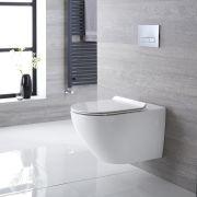 Hänge WC Spülrandlos Oval Sitz mit Absenkautomatik - Otterton
