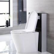 Saru Sanitärmodul H 822mm Schwarz für Stand-WC