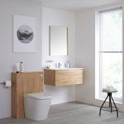 Newington - Waschtisch mit Unterschrank 800mm & WC mit Vorwandelement - Goldeiche