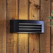 Biard Eckige Wandleuchte Architect - Schwarz - mit LED