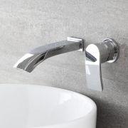 2-Loch Unterputz Waschtischarmatur mit Wasserfallausguss - Razor