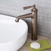 Hohe Einhebel Waschtischarmatur Traditionell in geölter Bronze - Colworth