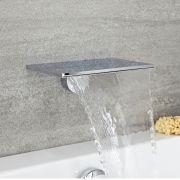 Badewanneneinlauf oder Duschkopf Wasserfall Messing Verchromt 230mm x 160mm