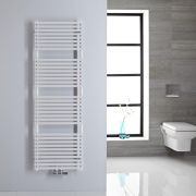 Handtuchheizkörper Mittelanschluss Vertikal Weiß 407 Watt 1520mm x 500mm - Magera