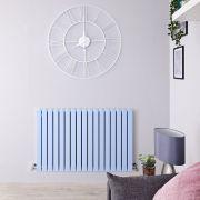 Design Heizkörper Horizontal Pastell Blau 1587Watt 635mm x 1000mm Doppellagig - Sloane